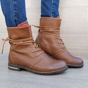 Shoes - Boho-Chic Style Ankle Boots Tie Around Laces-F